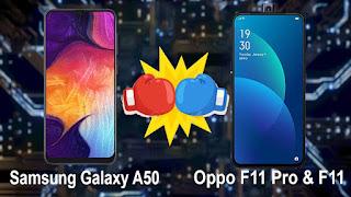 Perbandingan Spesifikasi Samsung Galaxy A50 vs Oppo F11 Pro, Beserta Harga Terbaru