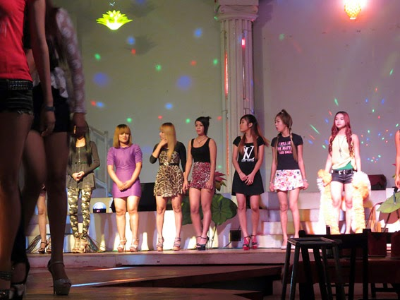 At power light nigthclub Yangon with girls