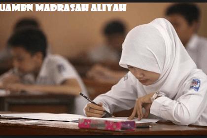 Lengkap Soal UAMBN MA 2019 dan Kunci Jawaban (Latihan Ujian Akhir Madrasah Nasional T.P 2018/2019)