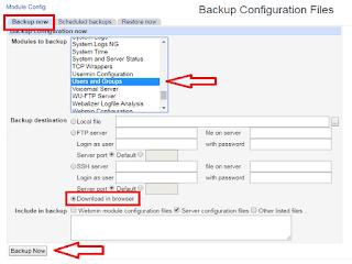 Cara backup user SSH Langkah 2