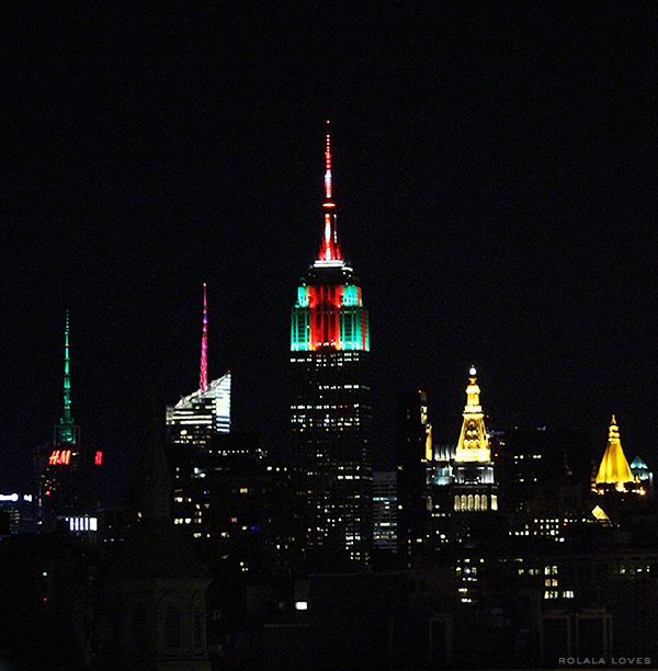 Empire State Building Christmas Lights