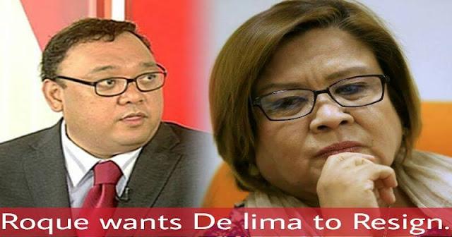 Roque wants De lima to Resign