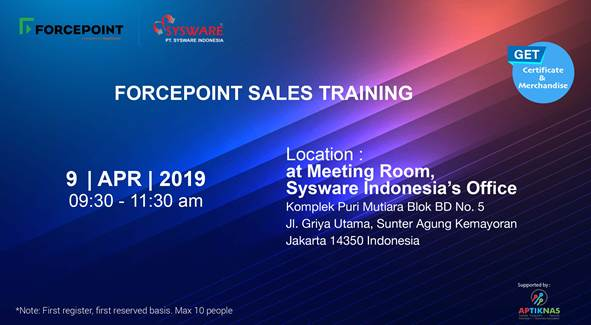 Sales Training FORCEPOINT 9 April 2019
