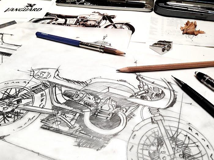 Moto Guzzi V7 Cafe Racer: Vanguard V7 Anniversary Design