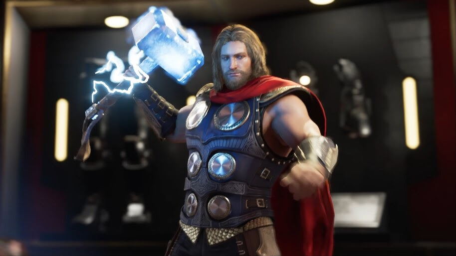 Marvel's Avengers Thor Mjolnir Hammer Lightning 4K Wallpaper #3 312