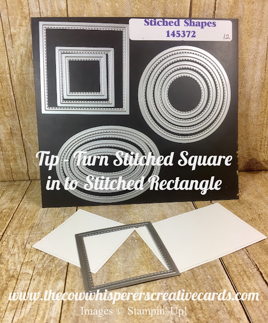 Tip, Stitched Square Dies, Stitched Rectangle, Stampin Up, Card, Big Shot