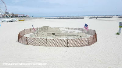 Sand Sculpture in Wildwood New Jersey