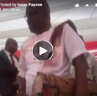 Fayose Turns 'The Drummer Boy'