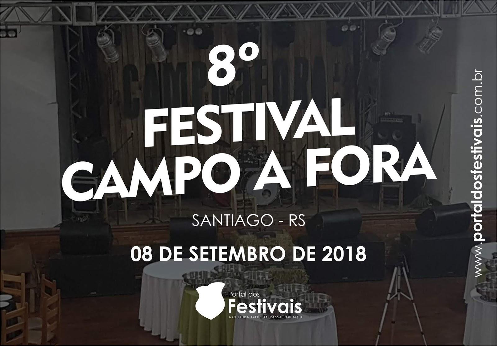 Divulgadas as músicas classificadas para o 8º Festival Campo a Fora da cidade de Santiago-RS