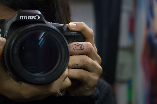 Minimalistic Camera Tattoo