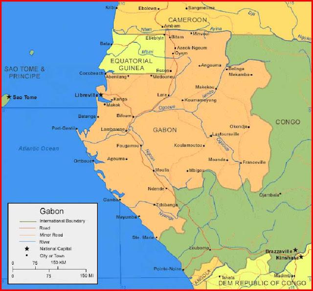 Gambar Peta Gabon