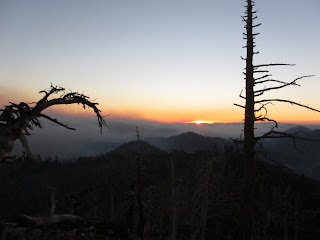 View of sunset from Mount Hawkins