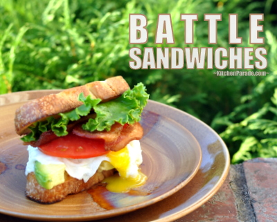 BATTLE Sandwiches, they're BLTs on Steroids ♥ KitchenParade.com.