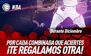 sportium NBA: Promo Combinadas Gratis diciembre
