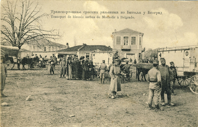 Transport of wounded Serbian soldiers from Bitola to Belgrade during the First Balkan War