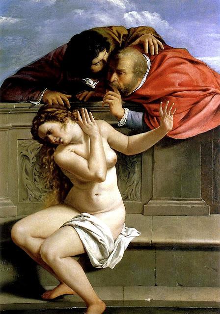 Artemisia Gentileschi - Susanna e i vecchioni - sex art - abusi sessuali