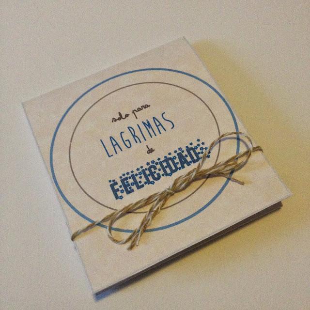 Lágrimas de Felicidad (2). DIY: Tutorial y Plantillas descargables para repartir pañuelos a tus invita@dos