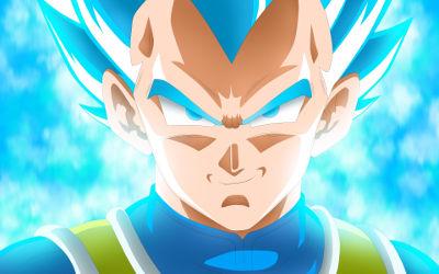Super Saiyan Bleu Vegeta Dragon Ball Super - Fond d'Écran en Full HD 1080p