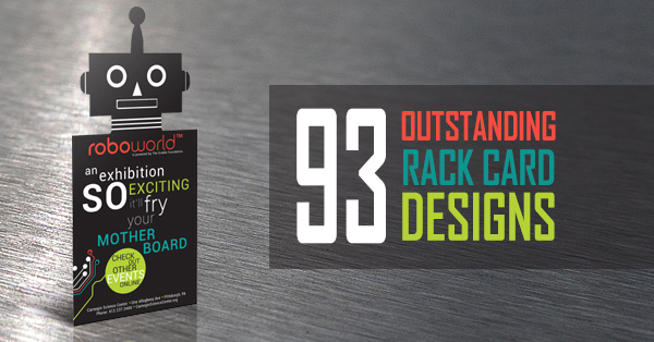 custom packaging products design and printing  a rack card