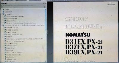 D39EX, PX-21-1501 BULLDOZER SHOP MANUAL 1