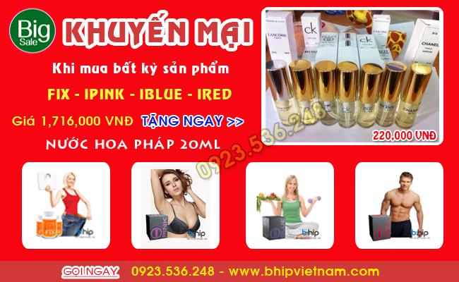 Khuyến mãi Noel tặng nước hoa Pháp khi mua: Fix - IPINK - IBLUE - IRED