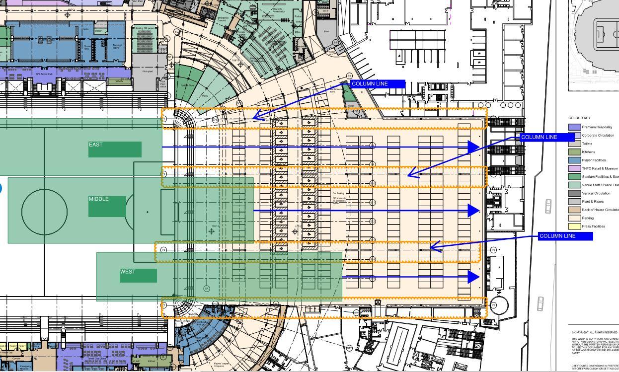 campo retrattile stadio tottenham dettagli
