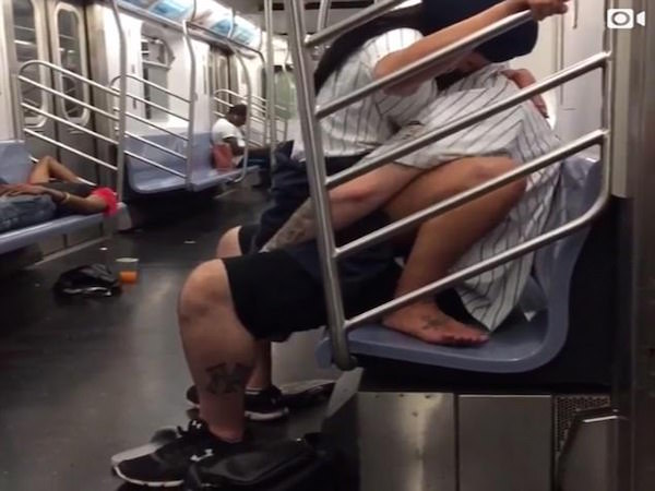 Having sex on a train