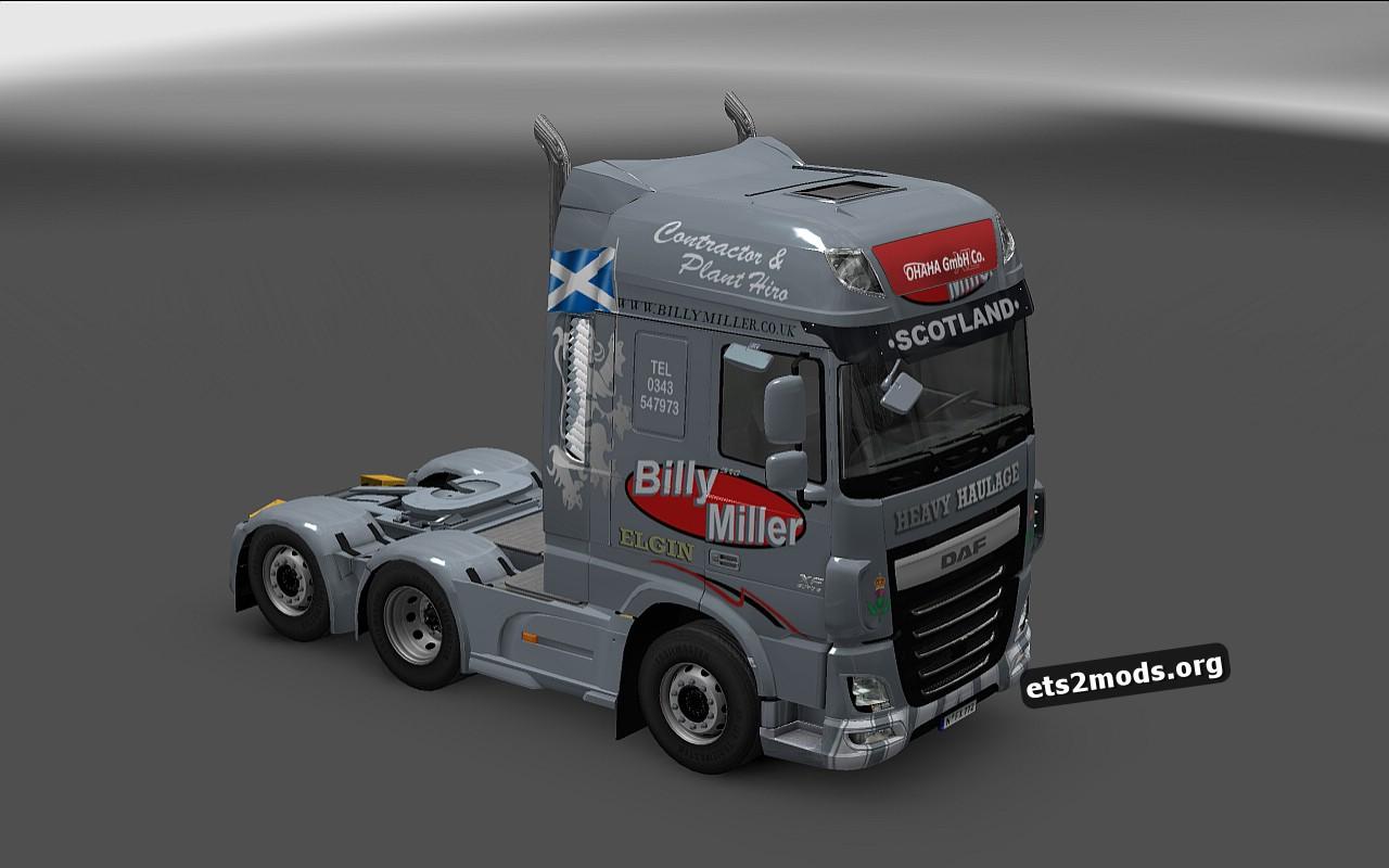 Billy Miller Skin for DAF Euro 6