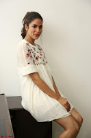 Lavanya Tripathi in Summer Style Spicy Short White Dress at her Interview  Exclusive 147.JPG