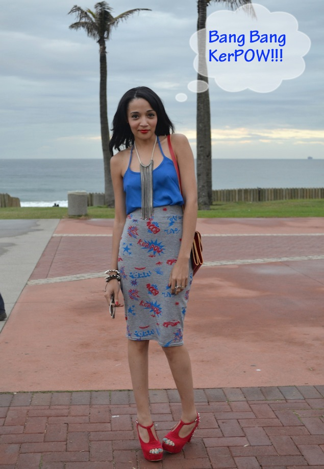 Bang Bang KerPOW!!! My BOOHOO.com skirt