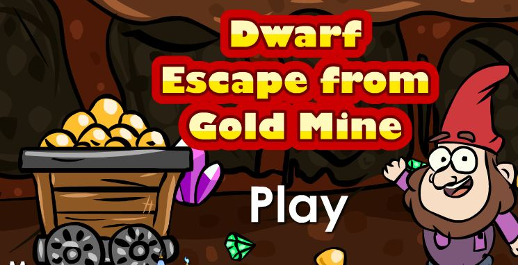 Play GenieFunGames Dwarf Escape from Gold Mine