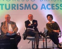Barros Munhoz, governador Alquimin e secretária Linamara abrem o Congresso de Turismo Acessível
