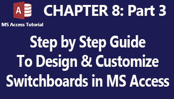 how to design and customize a professional switchboard through the access switchboard manager