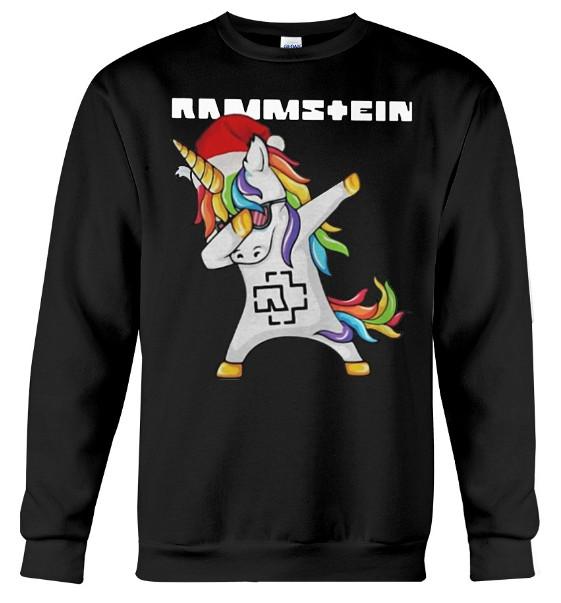 Rammstein Dabbing Unicorn Santa T Shirt, Rammstein Dabbing Unicorn Santa Hoodie Sweatshirt, Santa Unicorn dabbing rammstein Christmas shirt