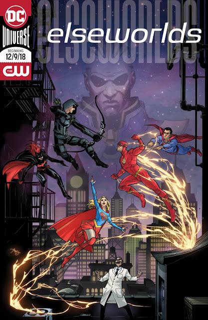 Póster estilo cómic del nuevo crossover del Arrowverse.