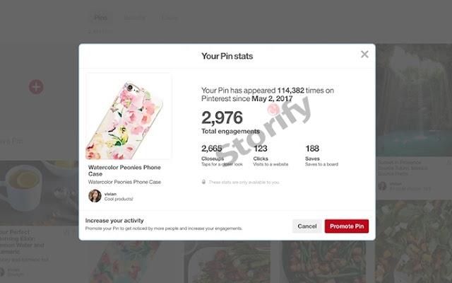 Pinterest Güncellemeleri istatistik