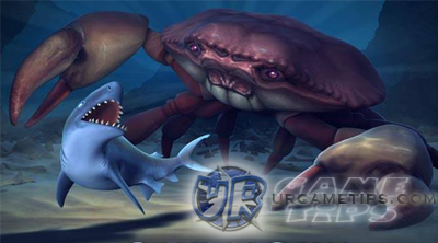 hungry shark evolution giant crab location and how to