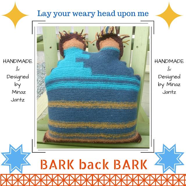 BACK Felted Pillow BARK by Minaz Jantz