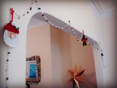 My Tree is Up and I made a button garland!