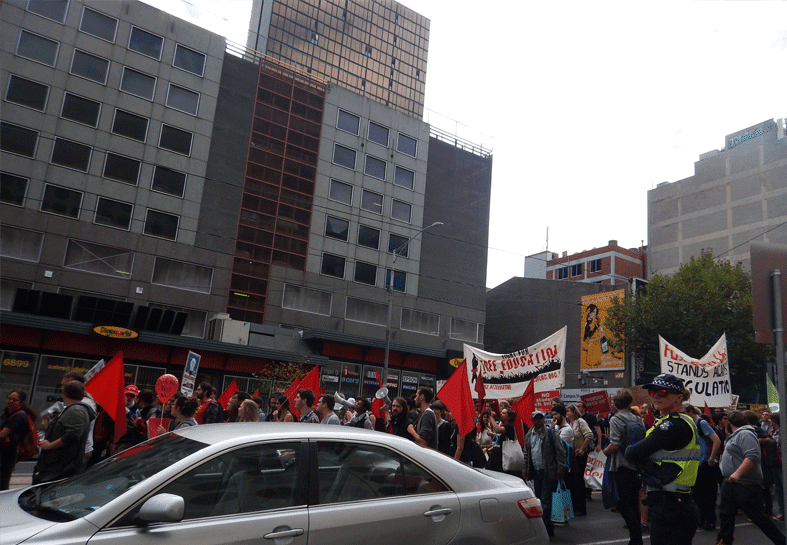 25 March 2015 Student Protests in Melbourne