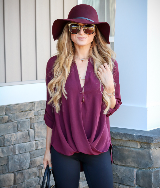 target floppy hat lush clothing burgundy tunic