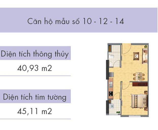 Căn hộ số 10, 12, 14 tòa CT1A