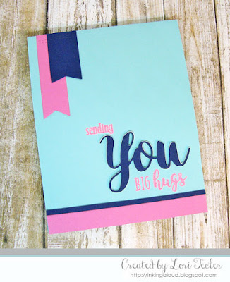 Sending You Big Hugs card-designed by Lori Tecler/Inking Aloud-stamps and dies from SugarPea Designs