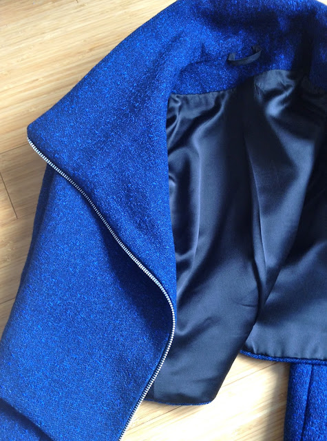 Diary of a Chain Stitcher: Quart Jacket in Rag & Bone Rayon/Cotton Crepe from Mood Fabrics
