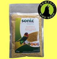 Pakan Burung Lovebird Lomba Sonic
