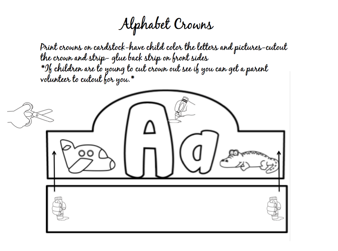 Alphabet Crowns Preschool Printables