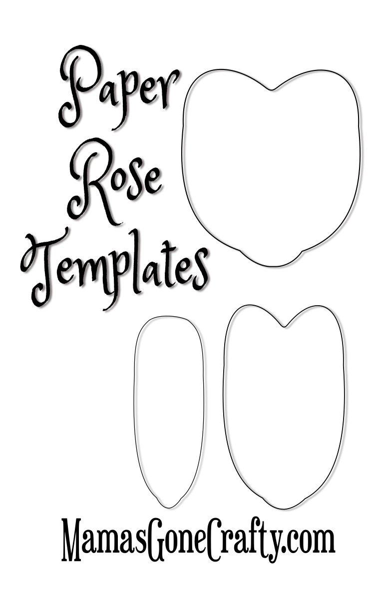 image relating to Free Printable Paper Flower Templates known as Rose Petal Printable Templates - Abbi Kirsten Collections