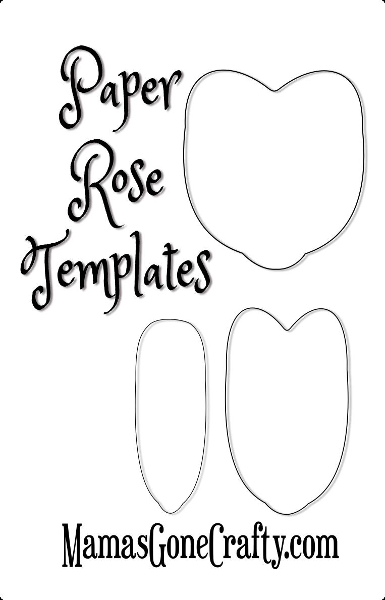 Rose Petal Printable Templates- Freebie Friday - Abbi ...