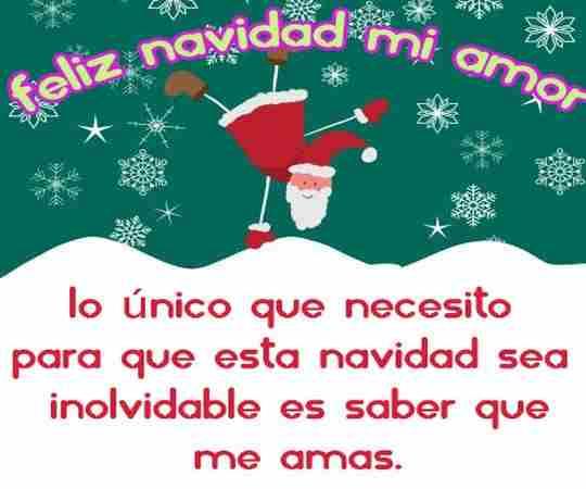 Feliz Navidad Mi Amor Frases Para Postales