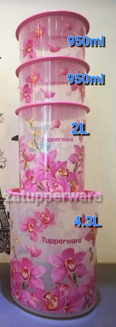 Tupperware Orchid Elegance One Touch Set